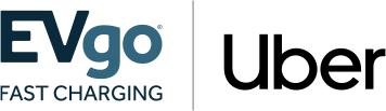 EVgo/Uber Partner Logo