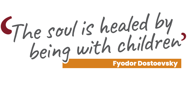 Quote The Soul is healed by being with children