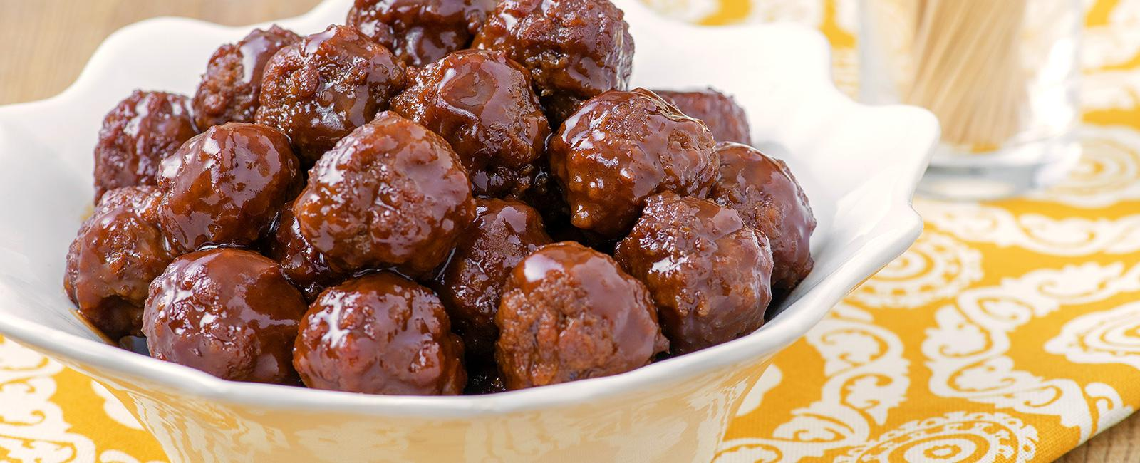 Welch's Grape Jelly Meatballs