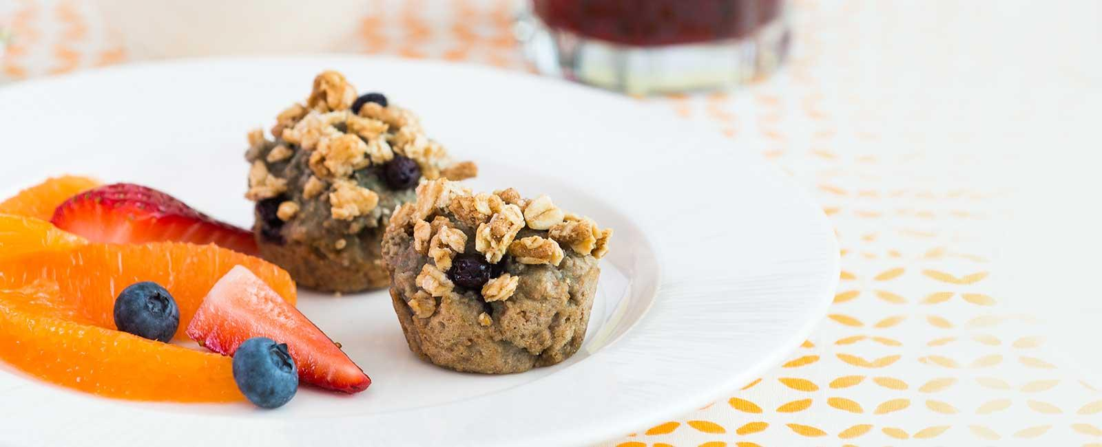 Grape Berry Crunch Muffins