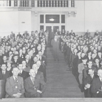 Auditorium filled with guests at the National Grape Cooperative Annual Meeting, circa 1945