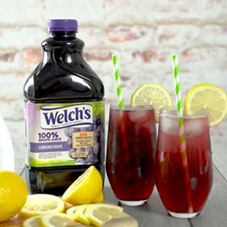 Welch's grape juice grapaid mocktail.