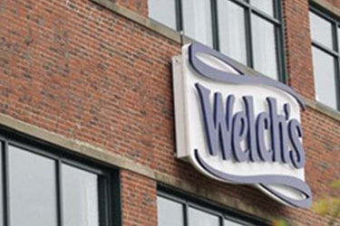 Front of Welch's corporate office with Welch's logo