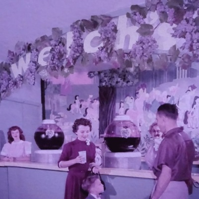 Welch's famous juice stand at Disneyland, purple hue