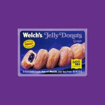 Welch's Jelly Donuts packaging, circa 1970