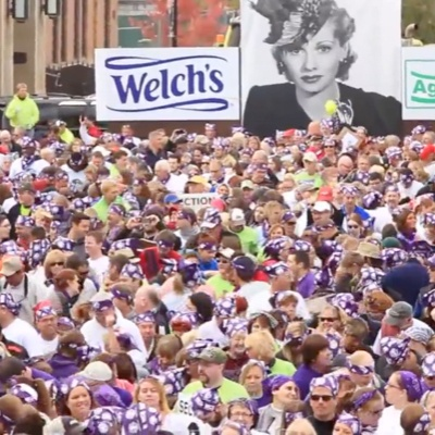 World record for grape stomping at the Lucille Ball Festival