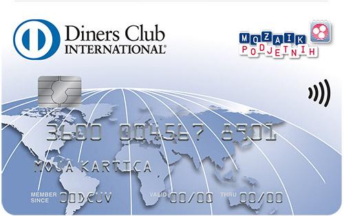 Kartica Diners Club Mozaik Podjetnih