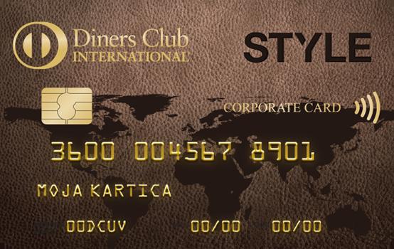 Kartica Diners Club Style Poslovna