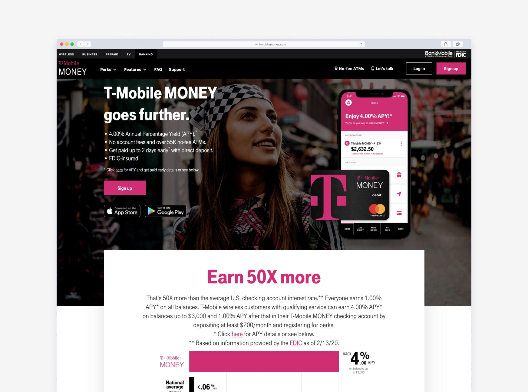 Screenshot of the T-Mobile Money desktop app