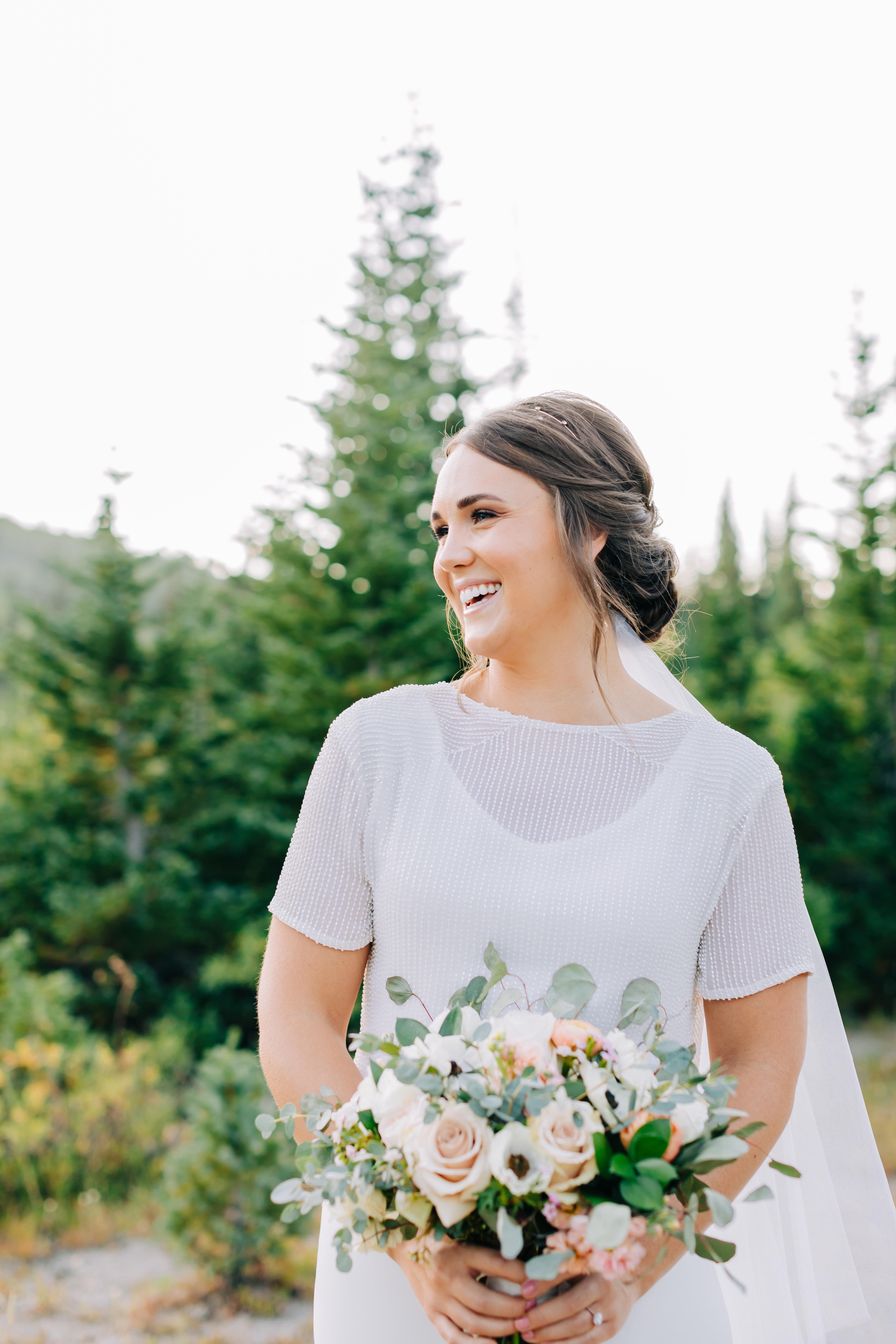 Amy blush ivory sage wedding bouquet round