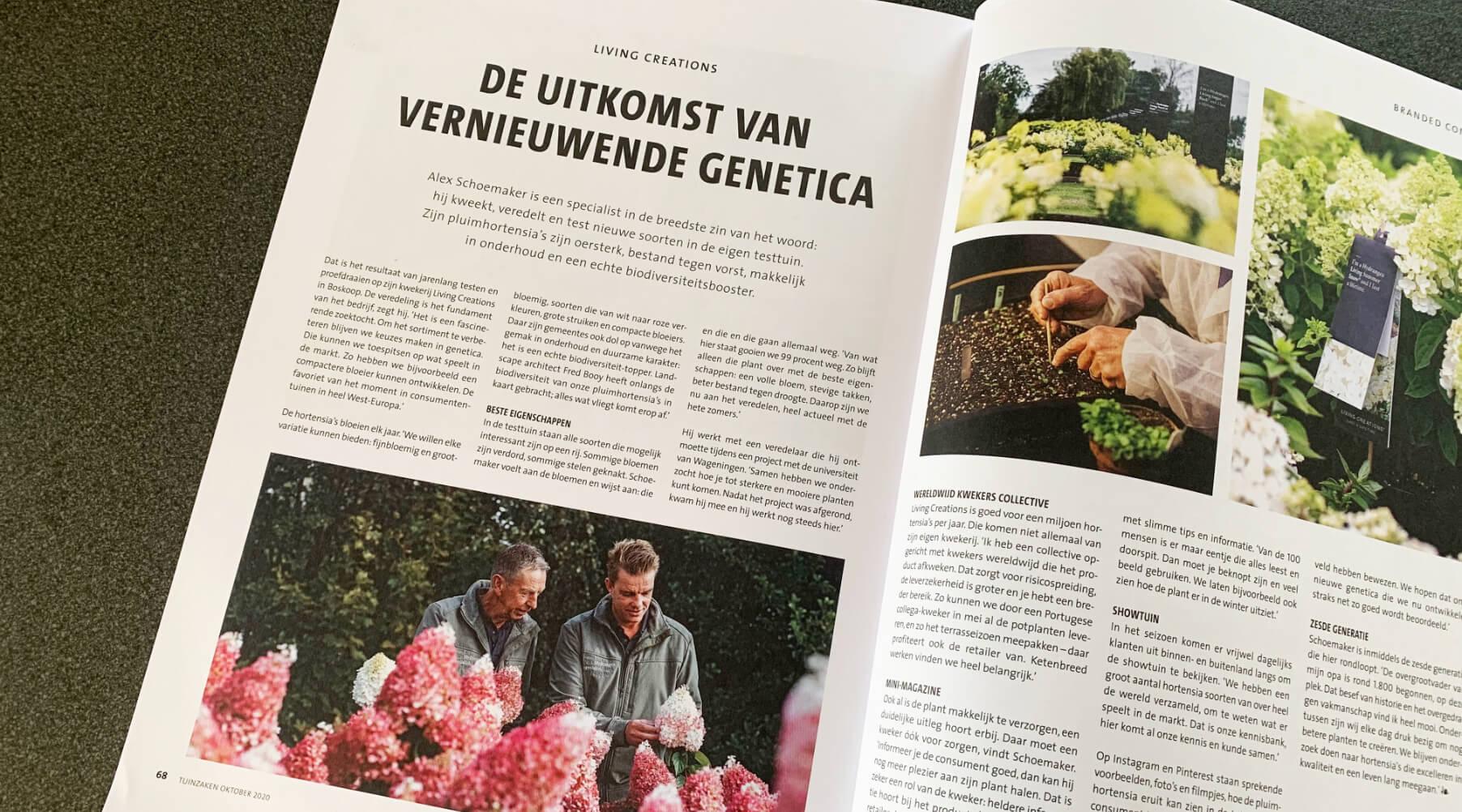Article Alex Schoemaker in Tuinzaken