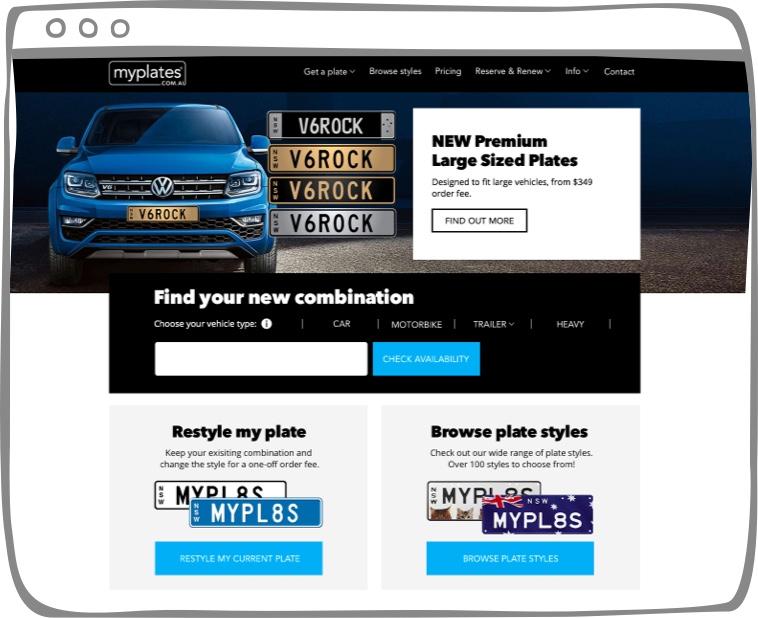 myPlates website
