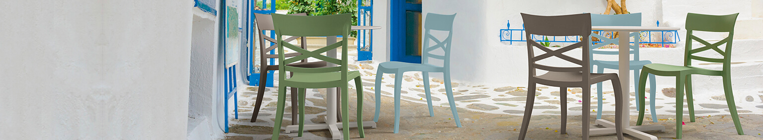 Outdoor Plastic chairs for your restaurant or hotel