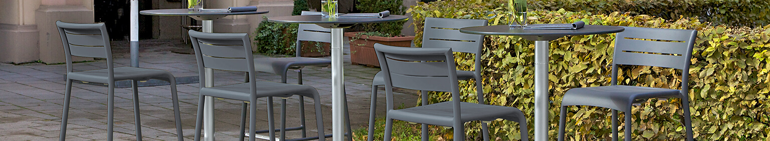 Outdoor high tables for your restaurant or hotel