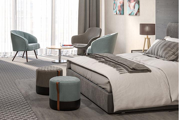Mobilier de haute qualité dans les chambres d'hôtel - GO IN