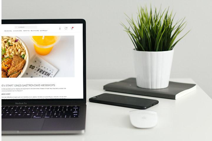 GO IN Blog auf Laptop