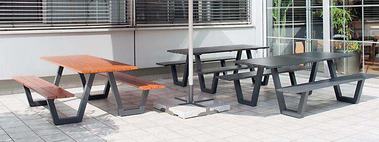 Combinaisons Tables/Bancs pour votre restaurant ou hôtel
