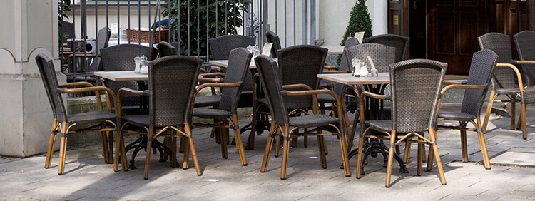 Outdoor Wickerwork chairs for your restaurant or hotel