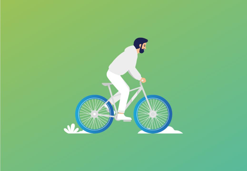 Icône d'un homme à vélo