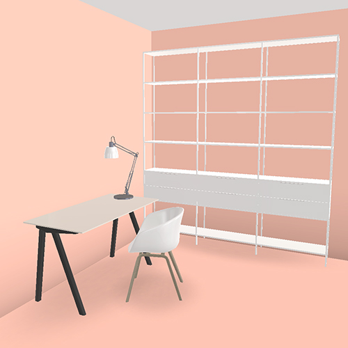 hay aac22 chair with a writing desk in a pink room chair aac22 coral