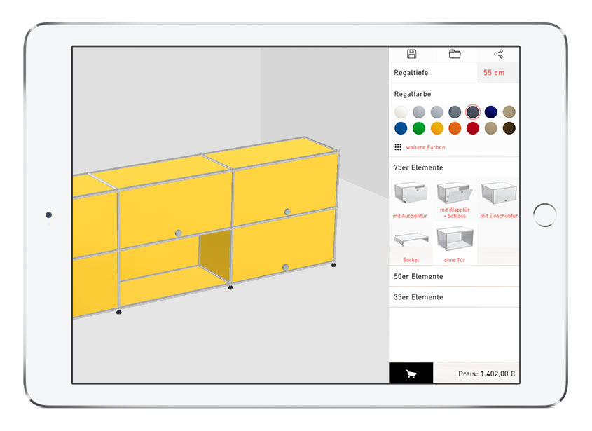 Free and simple 3d floorplanner for your design ideas roomle for Room configurator